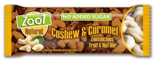 Zoot Natural Cashew & Caramel No Added Sugar Fruit & Nut Bar
