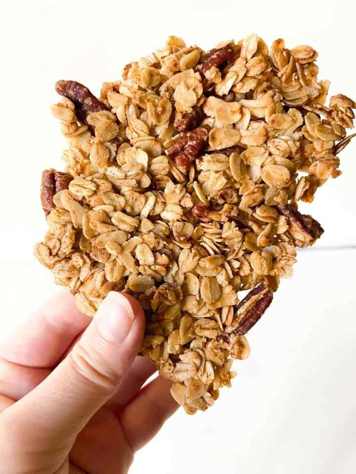 large maple pecan granola cluster