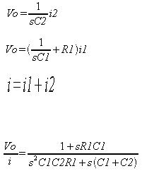 Loop Filter transfer function is calculated per following