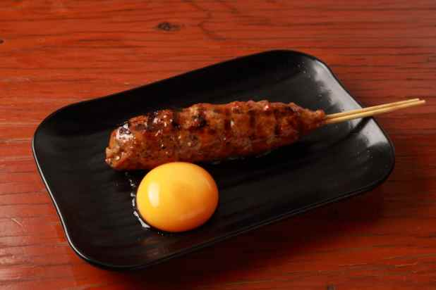 Tsukune with Poached egg
