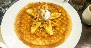 Caramel Banana Walnut Pancake