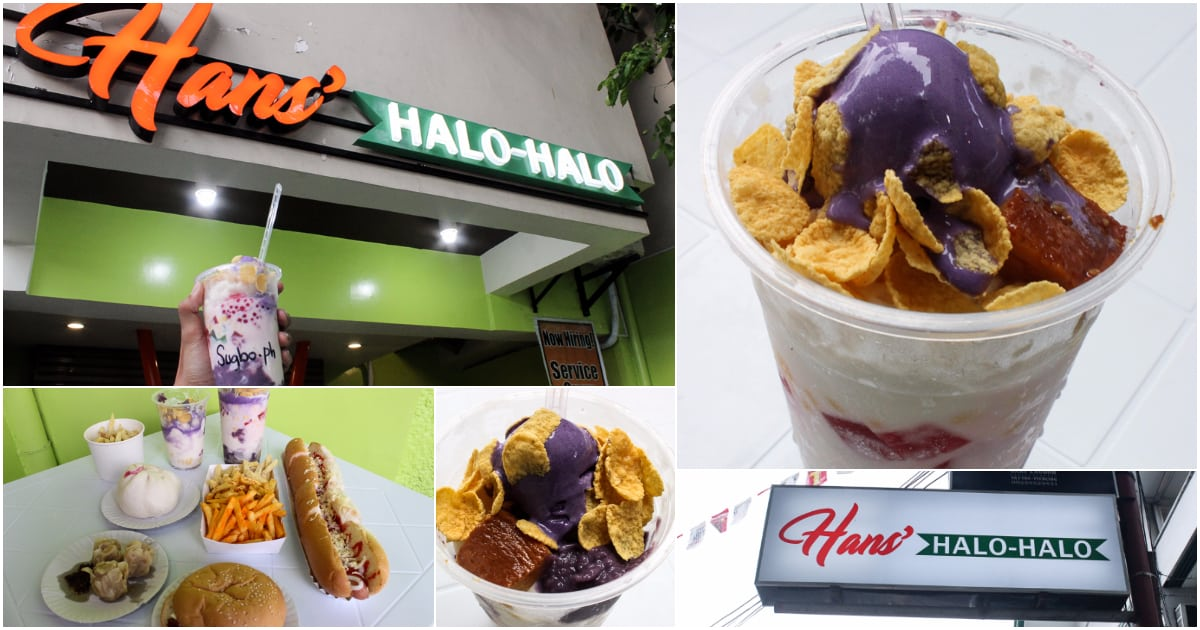 Make your own halo-halo at Hans'