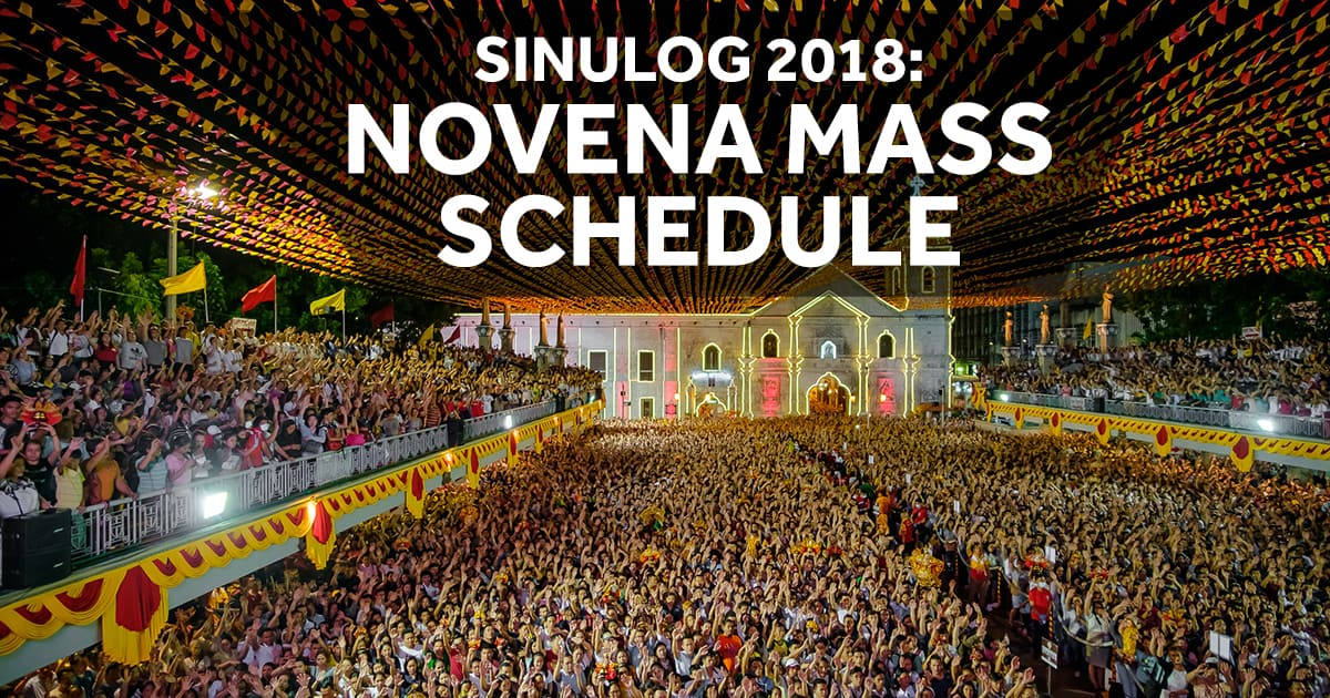 OFFICIAL Novena Mass Schedule for Sinulog 2018