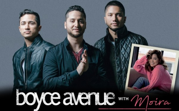 Boyce Avenue + Moira Concert in CEBU this June 2, 2018