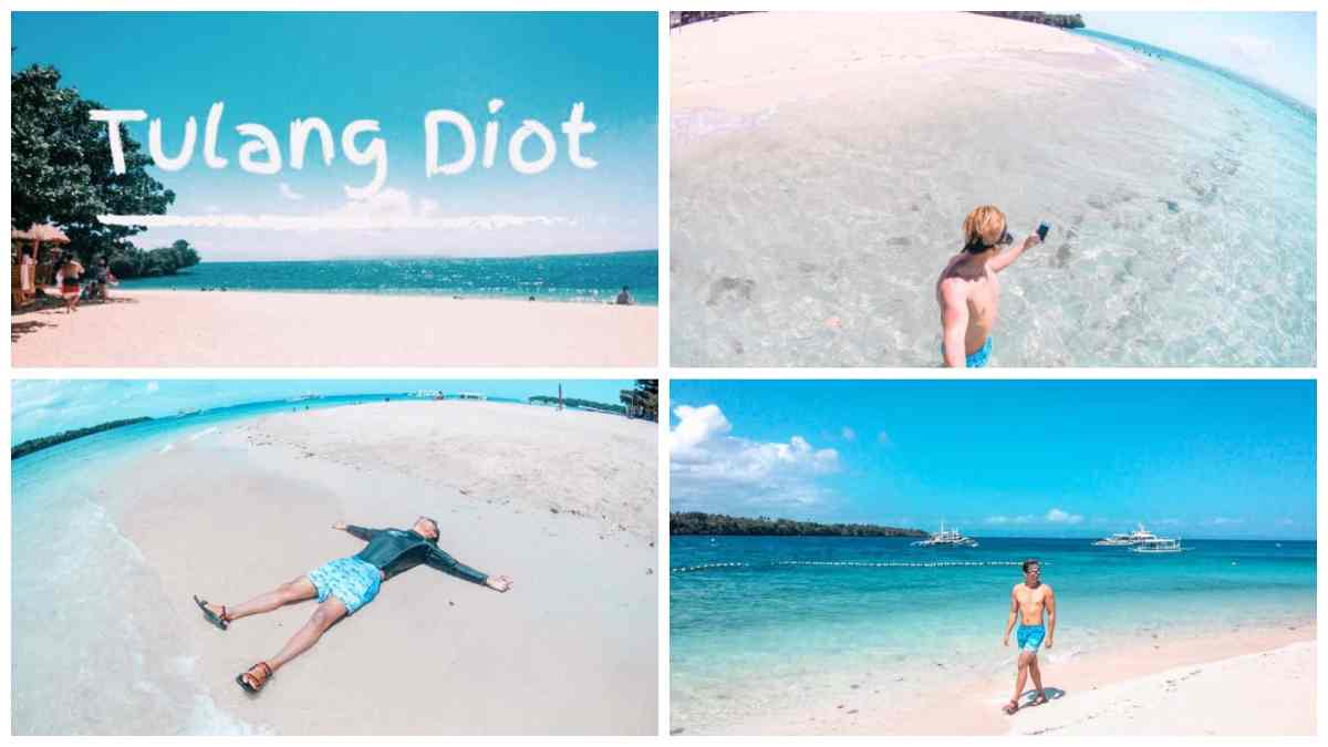 Tulang Diot Island: White sand beach in Camotes, Cebu