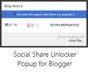 Social Share Unlocker Popup untuk Blogger