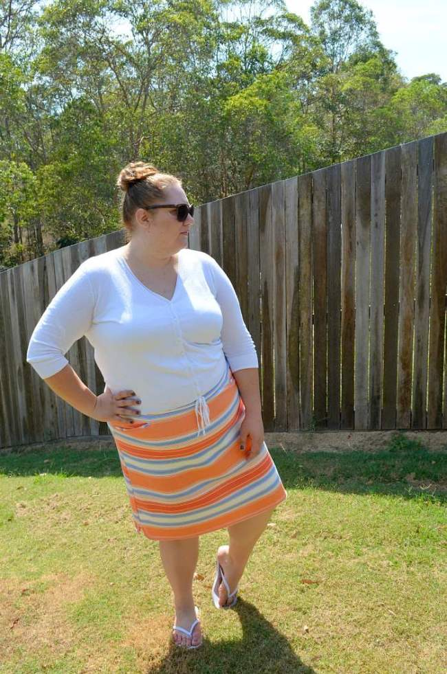 plus size stripe 17 sundays skirt 004