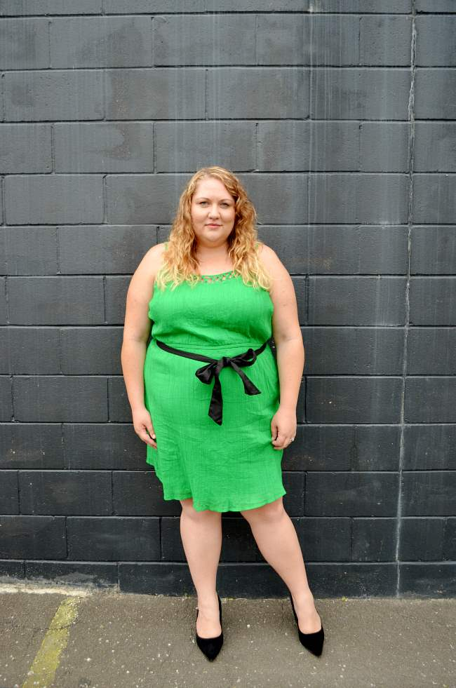 plus size old navy green dress 006