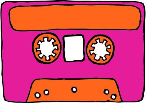 Cassette - b&W motif