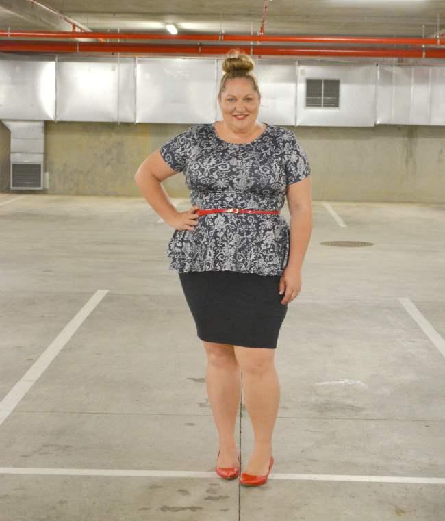 plus size asos curve peplum outfit 004