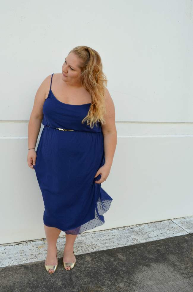 plus size asos midi dress with belt 004