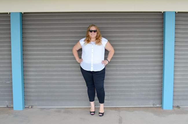plus size aussie curves black and white outfit 009