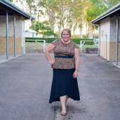 plus size peplum top, maxi skirt outfit 008