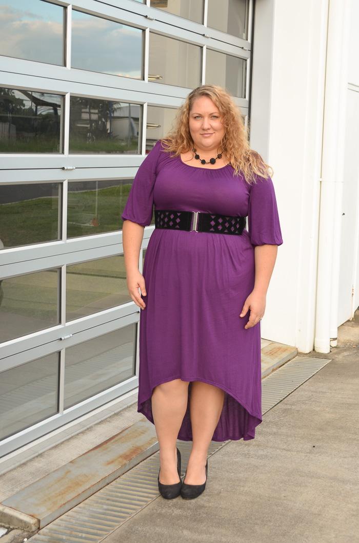plus size SWAK dress with belt-2