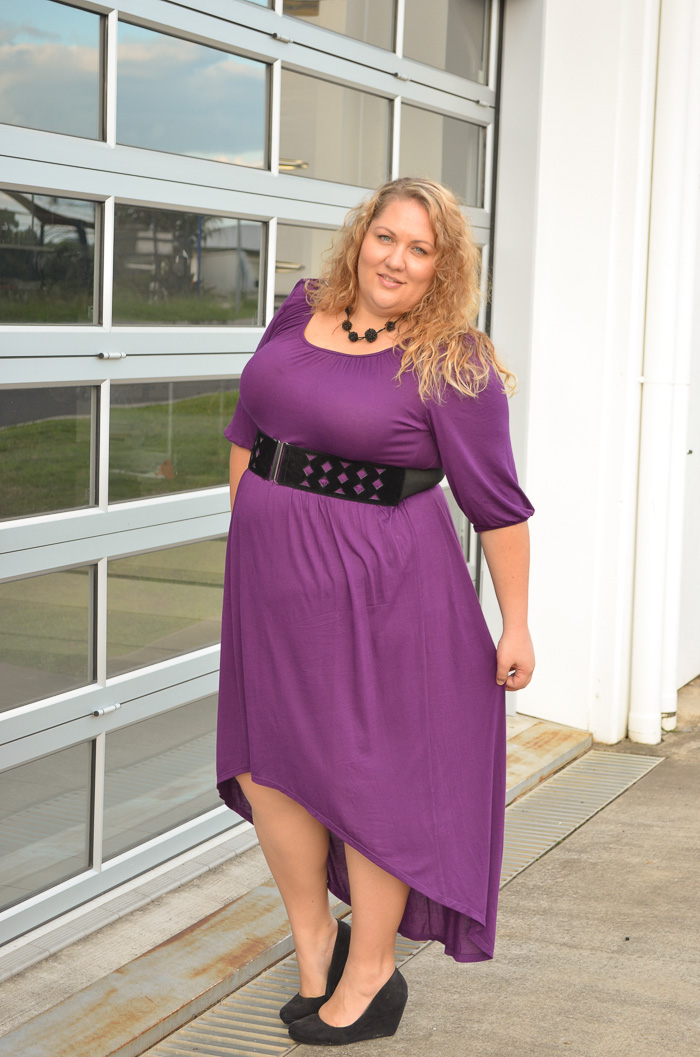 plus size SWAK dress with belt-3