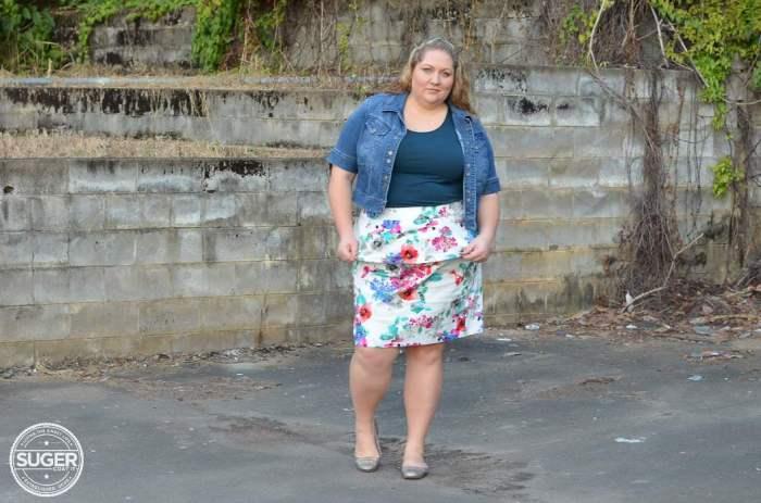 eshakti plus size skirt casual outfit-5