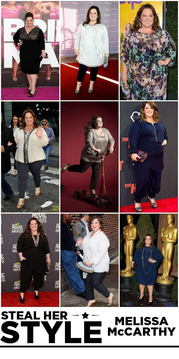 Melissa McCarthy Steal Her Style Collage