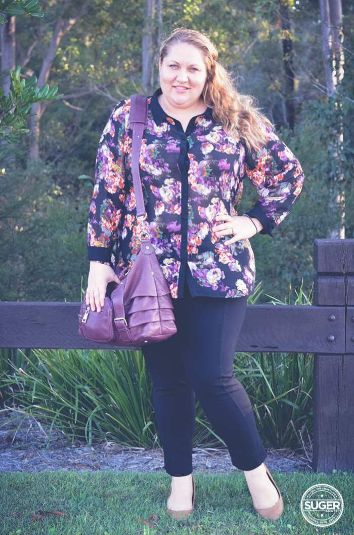 floral shirt and pants outfit plus size fashion-2