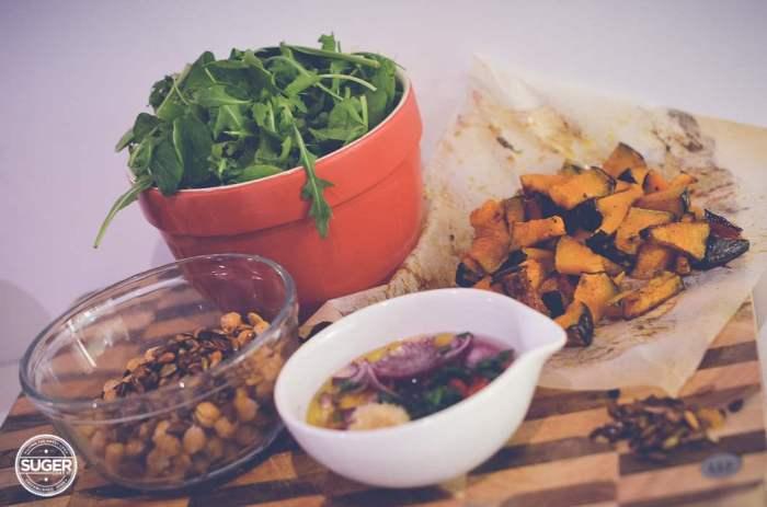 warm winter pumpkin and chickpea salad-4