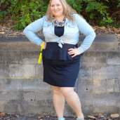 plus size casual lbd chambray outfit-3