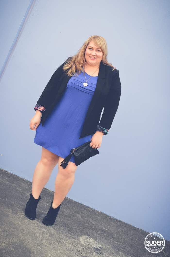 plus size mini with boots + blazer-5