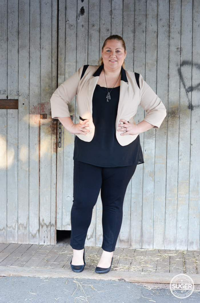 plus size work style outfit with blazer-5