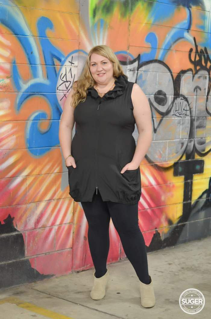 plus size black tunic with boots-2