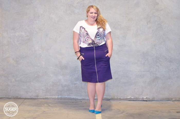 plus size skirt + t-shirt outfit aussie curves-7