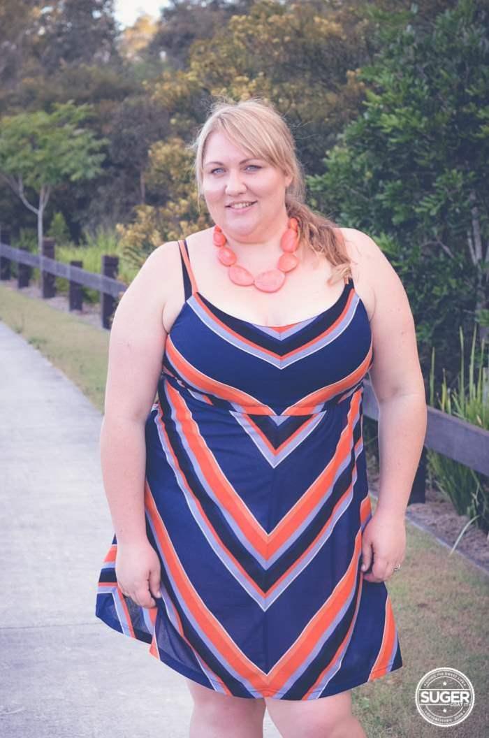 plus size stripe summer dress-3