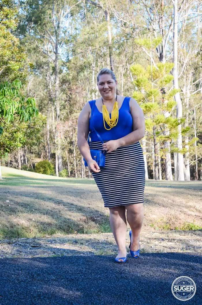 plus size stripes outfit summer-2