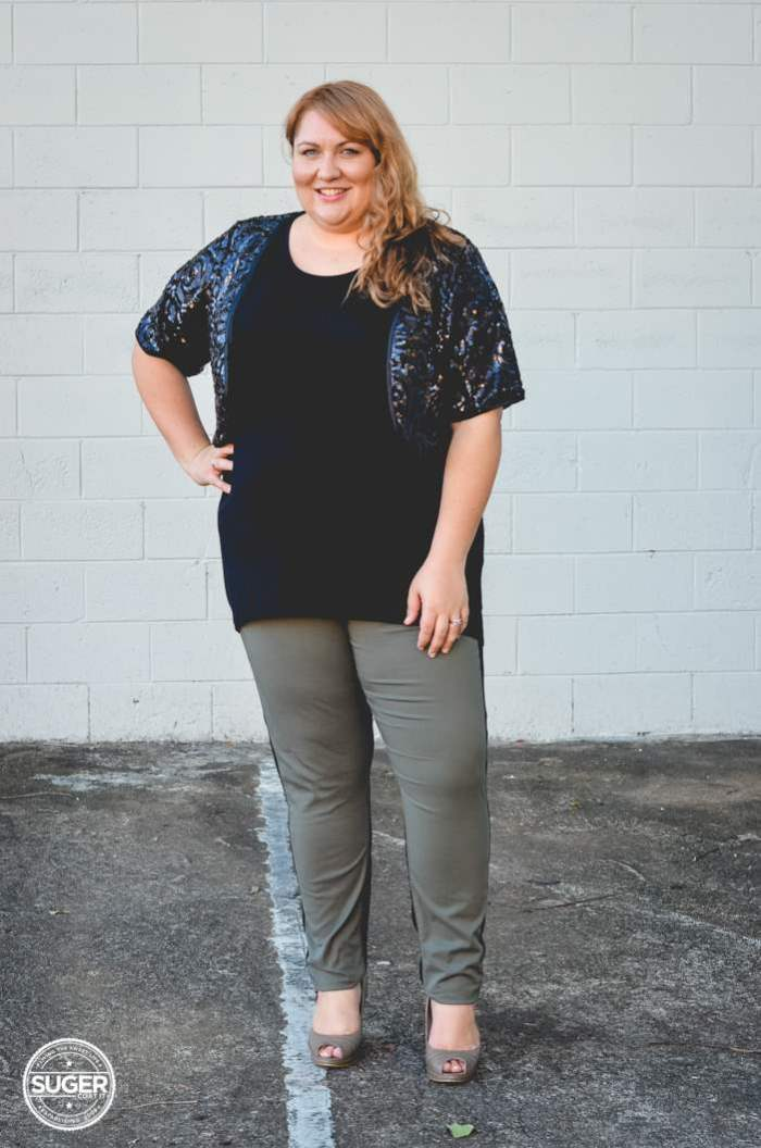 plus size two tone pants for dinner -6