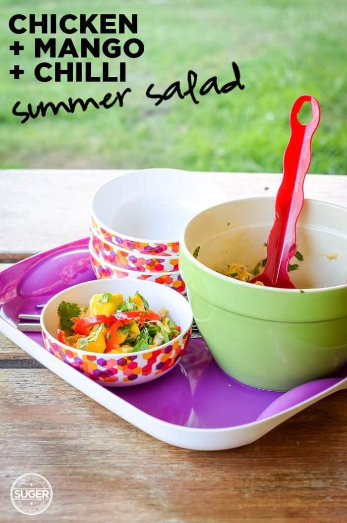 chicken + mango + chilli summer salad