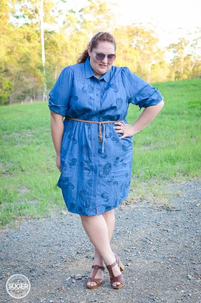 plus size chambray shirtdress 17 sundays-3