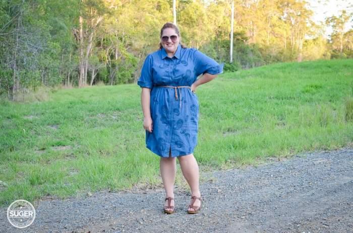 plus size chambray shirtdress 17 sundays-5