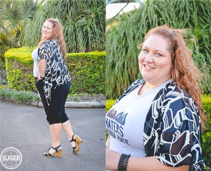 plus size weekend outfit geo print 02