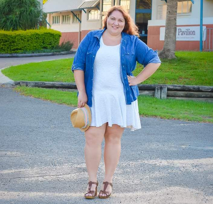 Summer continues in chambray + white
