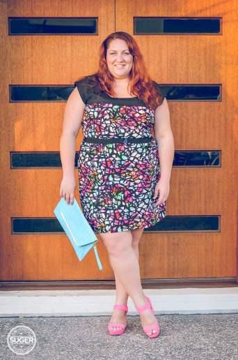city chic plus-size print summer dress-6