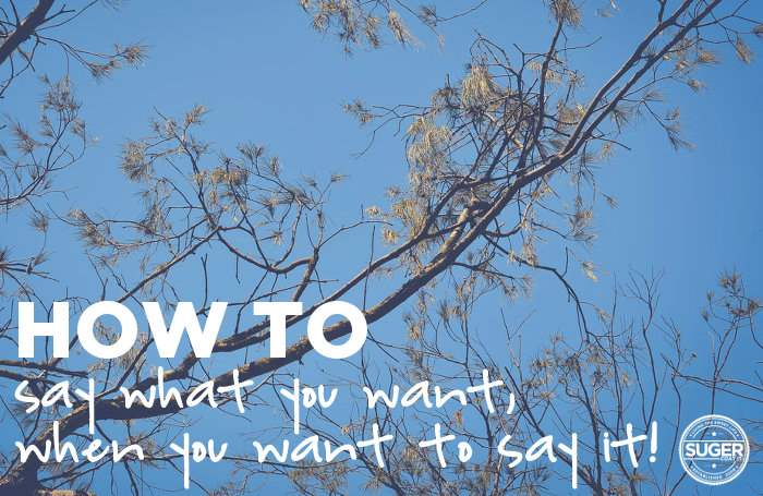 how to say what you want when you want to say it
