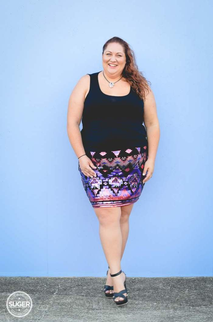plus size sequin skirt fun outfit-8