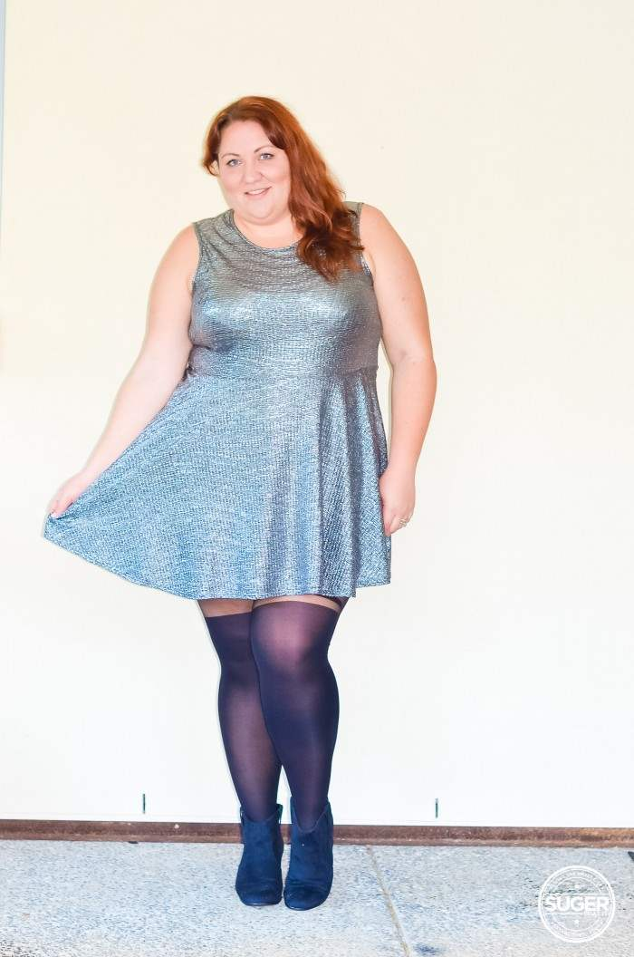 silver skater dress plus size outfit-1