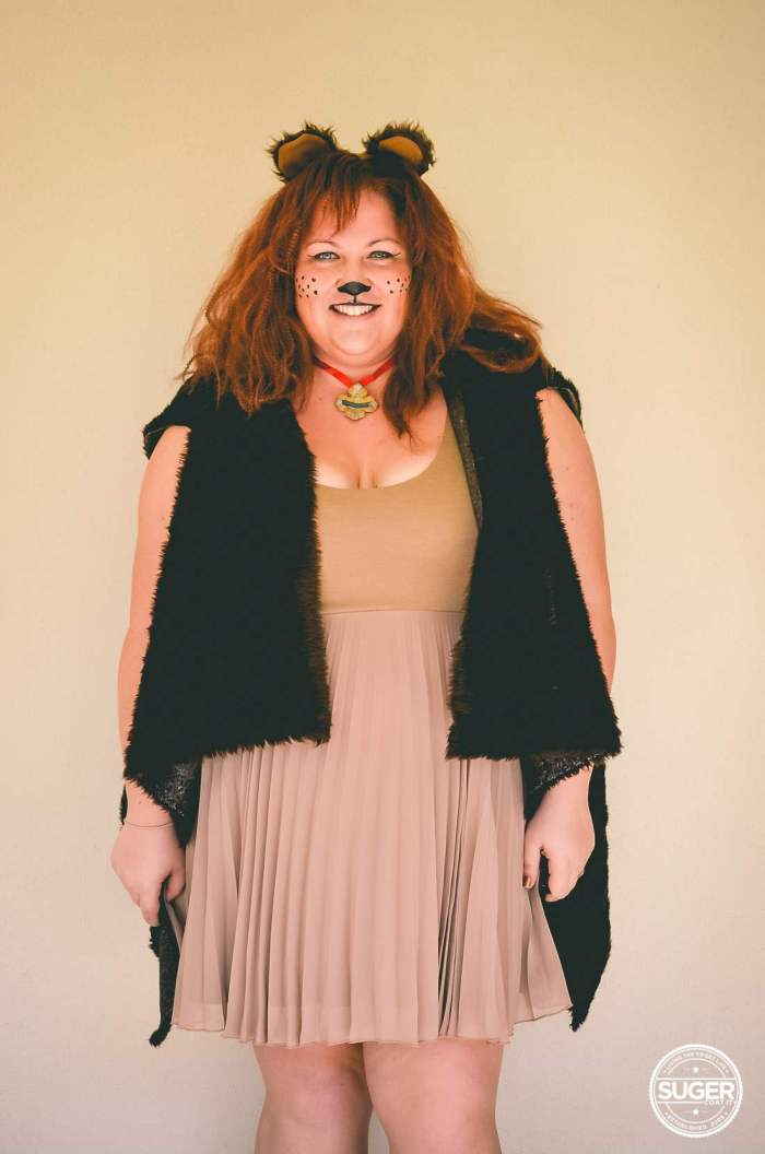 plus size cowardly lion costume hair makeup-3