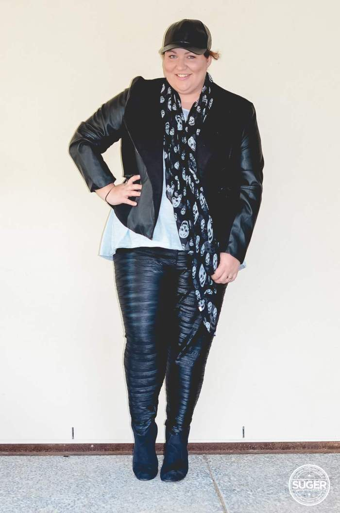 plus size casual leather outfit for winter-2