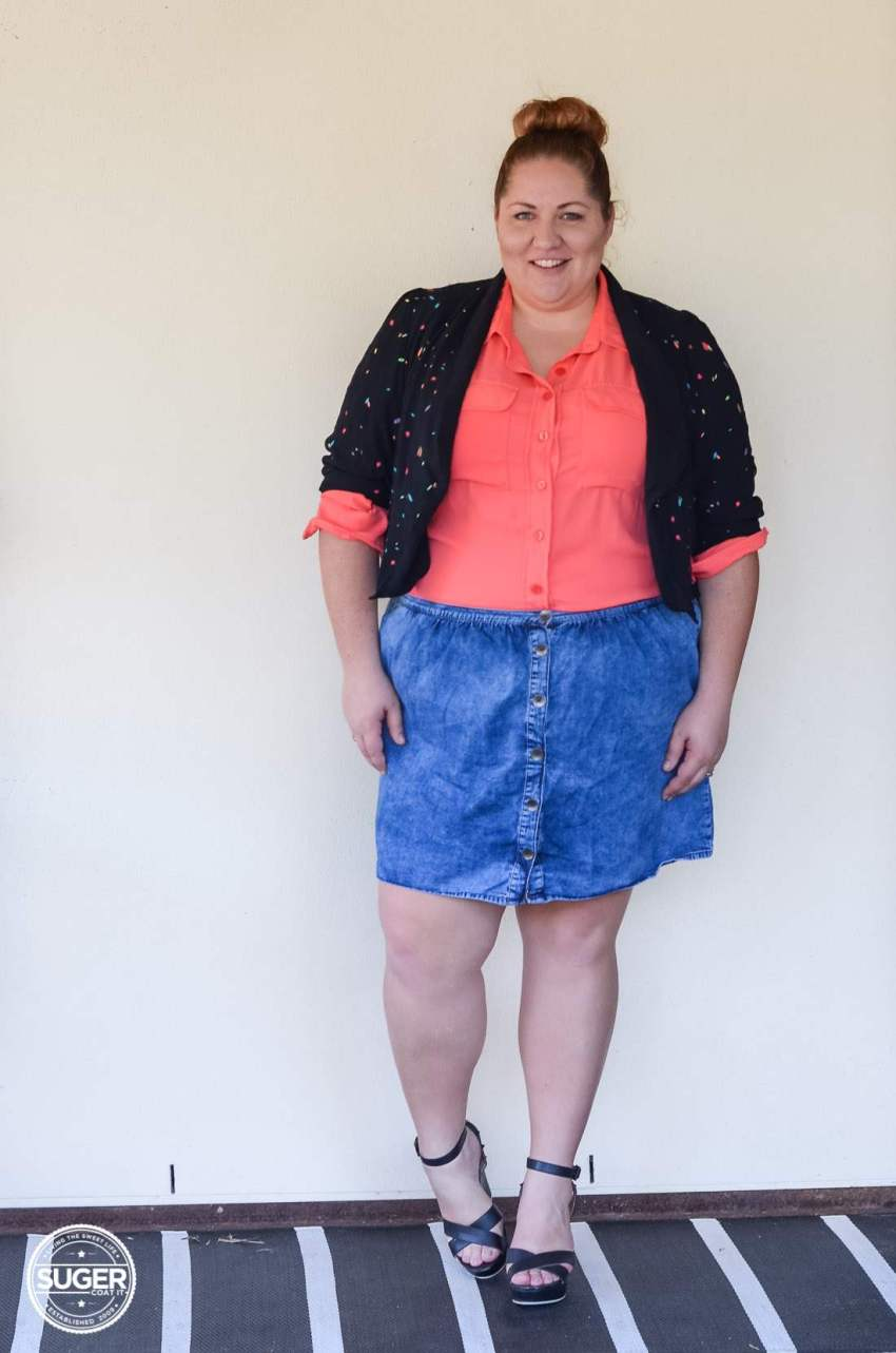 17 sundays jacket blouse + asos curve denim skirt-12