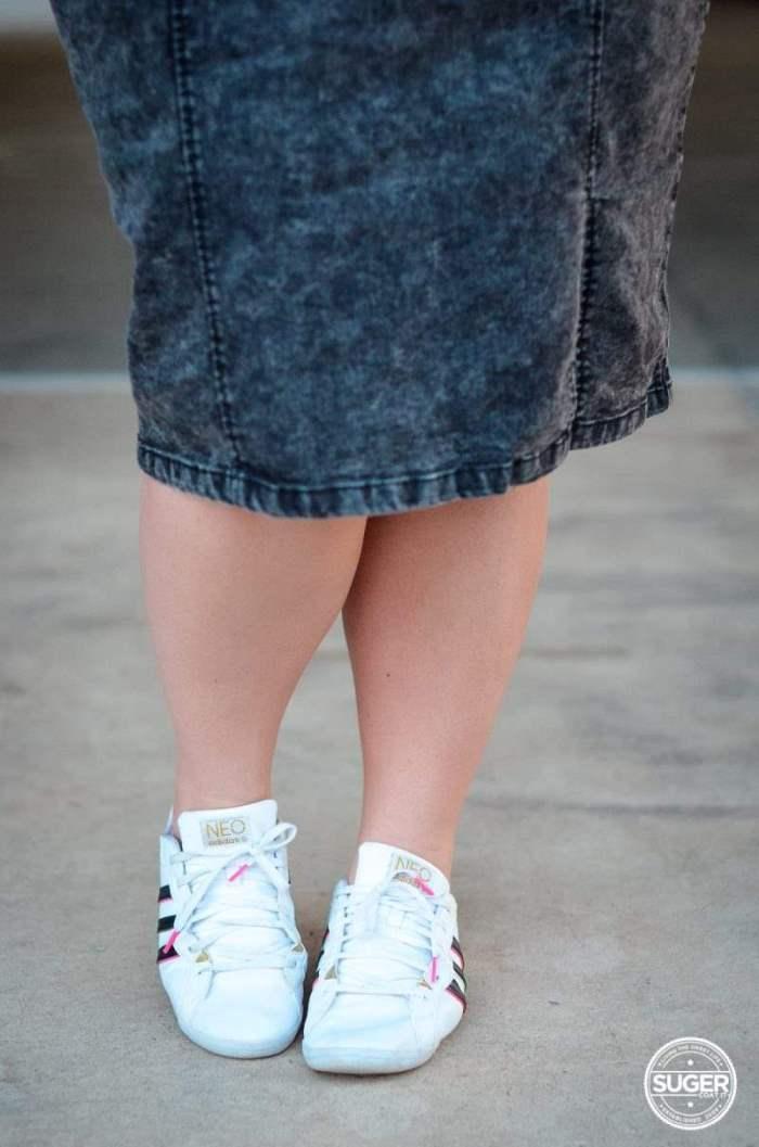 varsity city chic acid wash denim skirt plus size-7