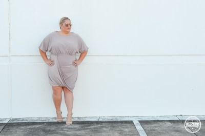 plus size blogger asos curve blush drape bodycon dress
