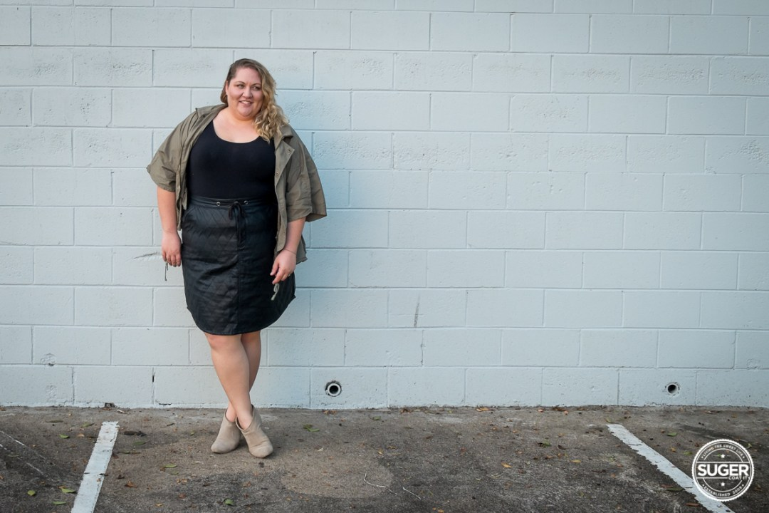 plus size blogger outfit pleather skirt-5