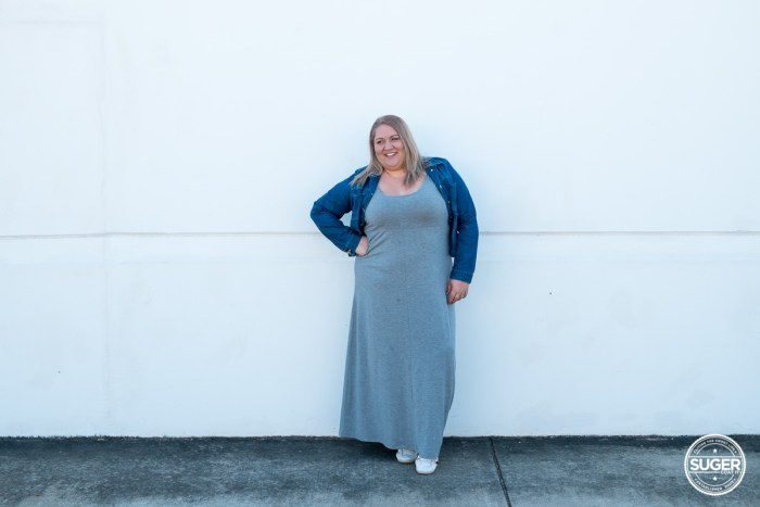 plus size blogger asos curve grey maxi dress-2