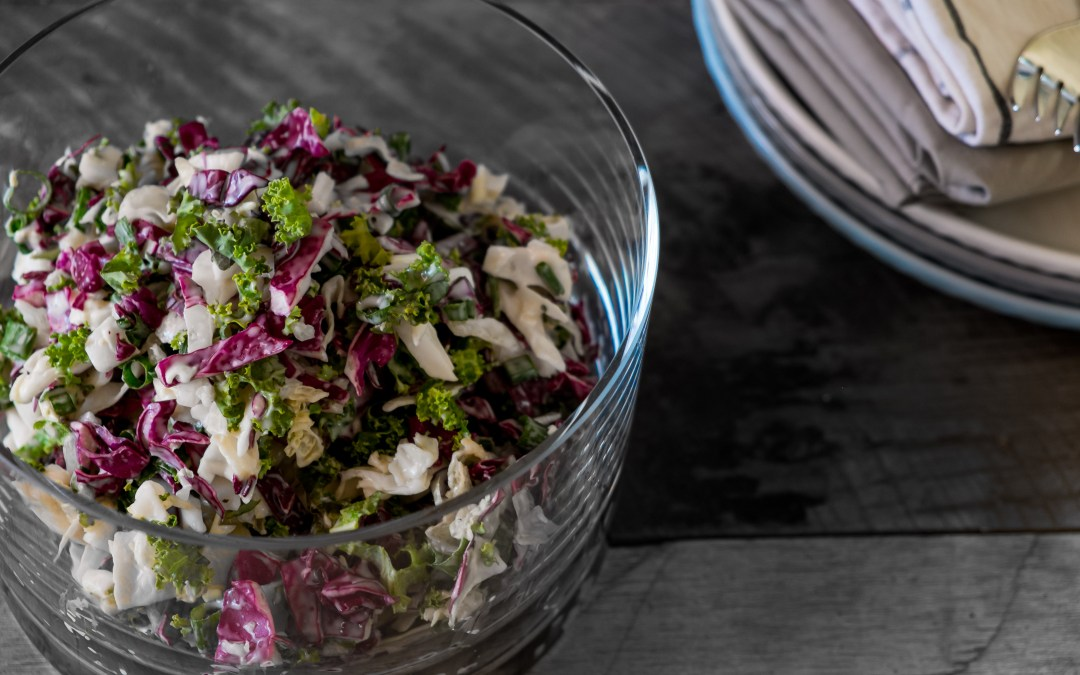 summer bbq kale coleslaw - suger coat it