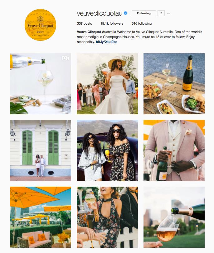 Verve Clicquot AU Instagram Account