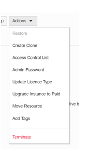 Action Tab control